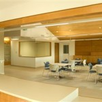 Panoramic view of common area from common's kitchen